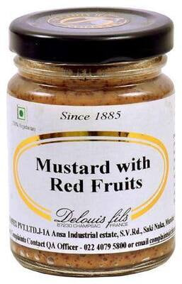 Delouis Mustards With 4 Red Fruites 100g