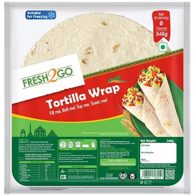 Fresh2Go Tort Wrap 348G
