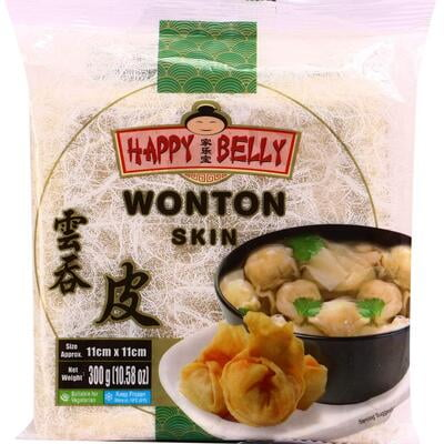 Happy Belly Wonton Skin 11cm x 11cm 300g
